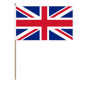 Great Britain Union Jack Country Hand Flag, large.